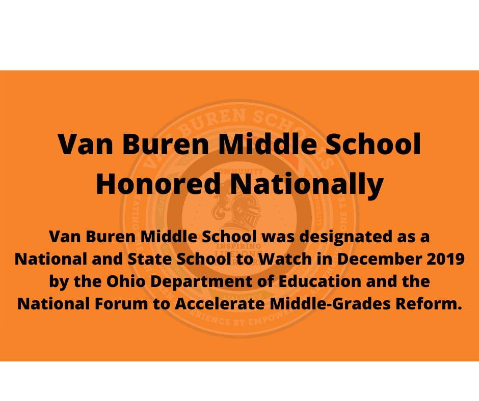 Van Buren Middle School Honored Nationally