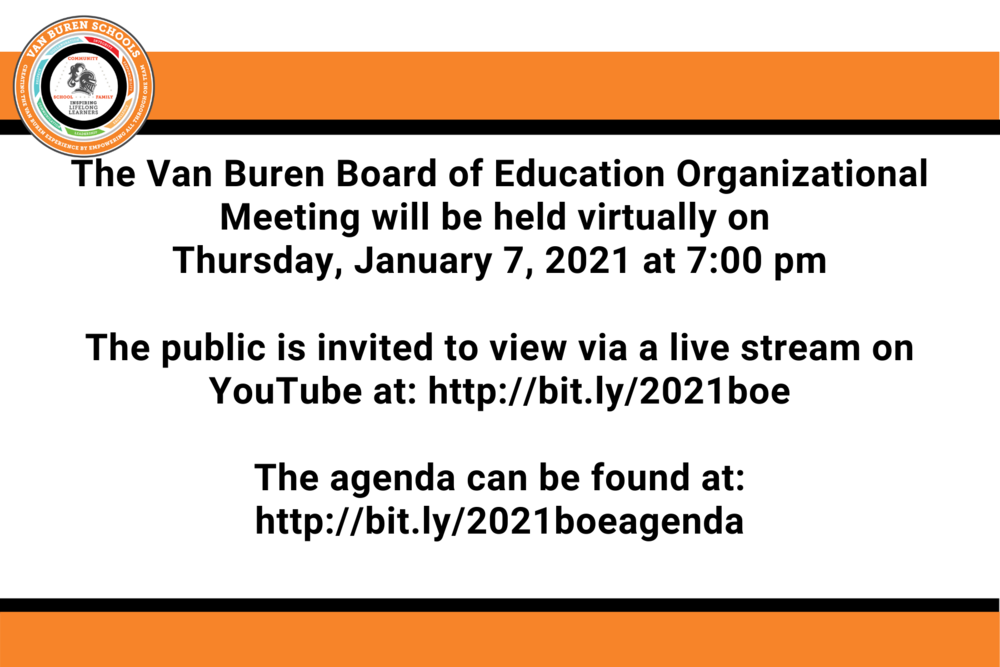 Van Buren Board of Education - Organizational Meeting