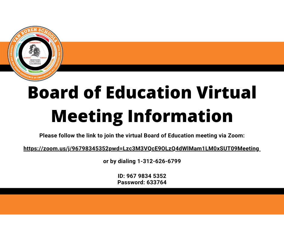 Board of Education Virtual Meeting Information