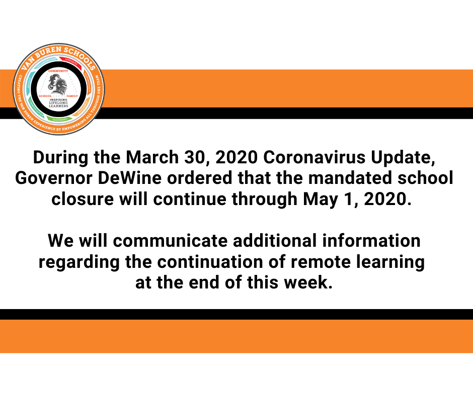 School Mandated Closure Update