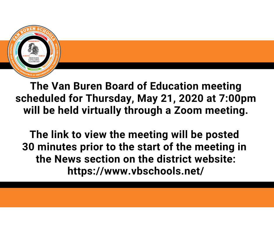 May 21, 2020 Board of Education Notification