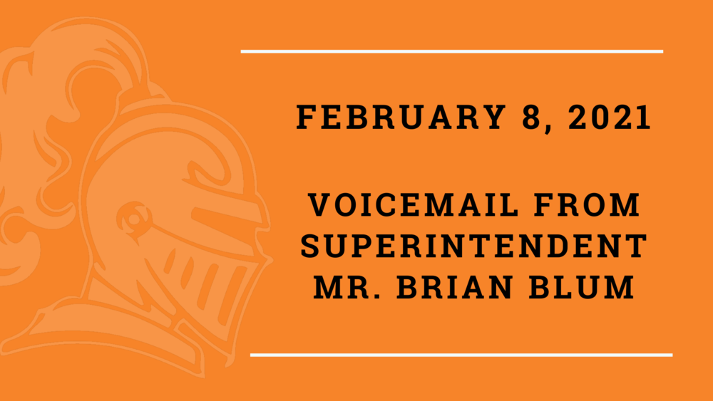 Feb. 8 Voicemail From Mr. Blum