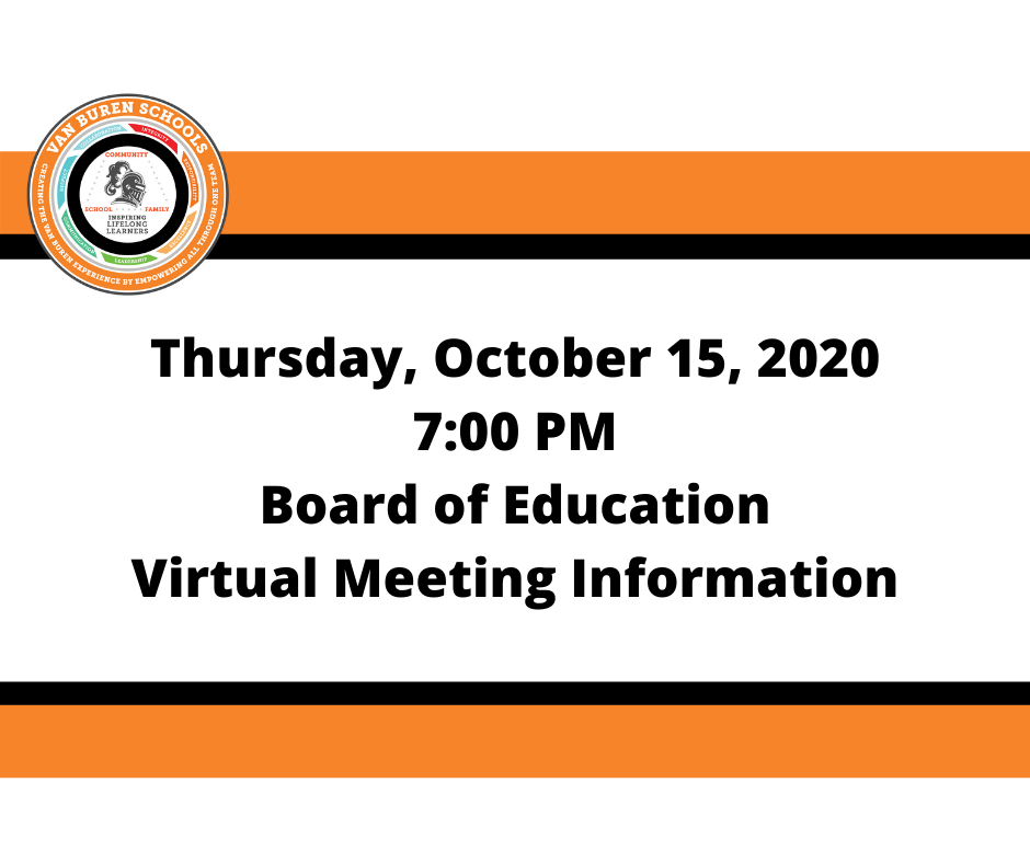 October 15, 2020 board of Education Meeting Information