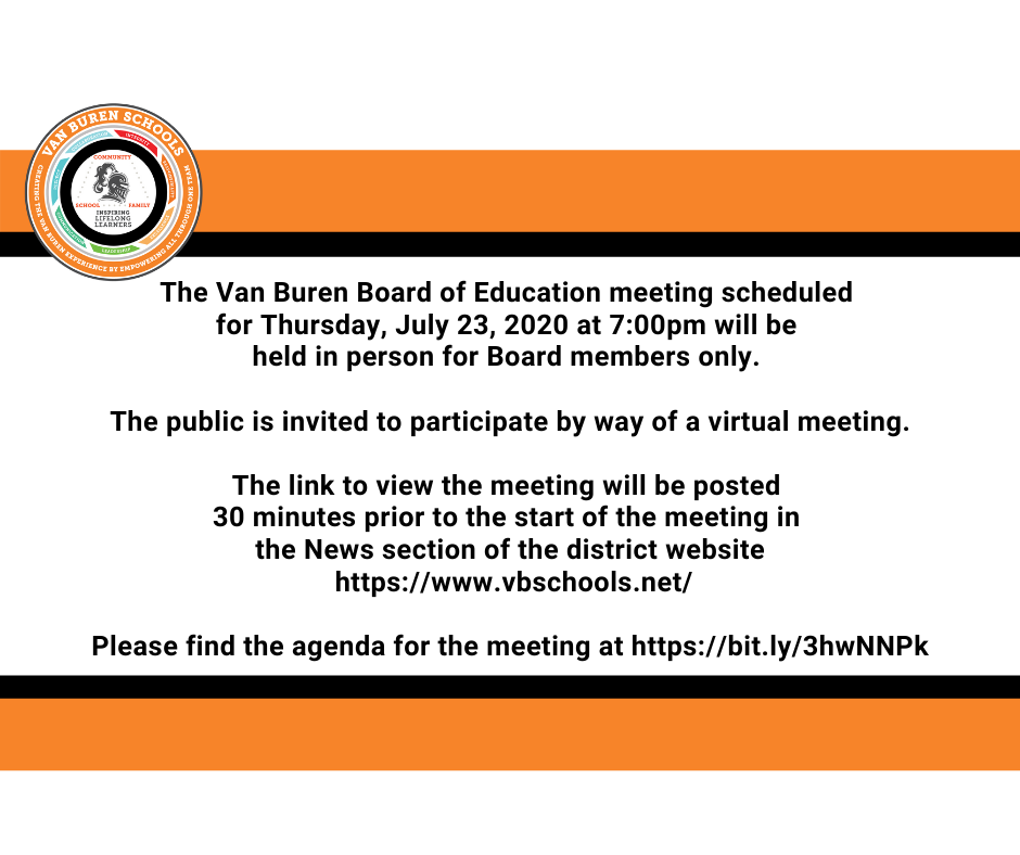 July 23, 2020 Board of Education Meeting