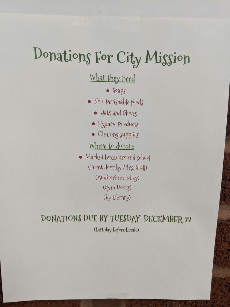 City Mission Flyer