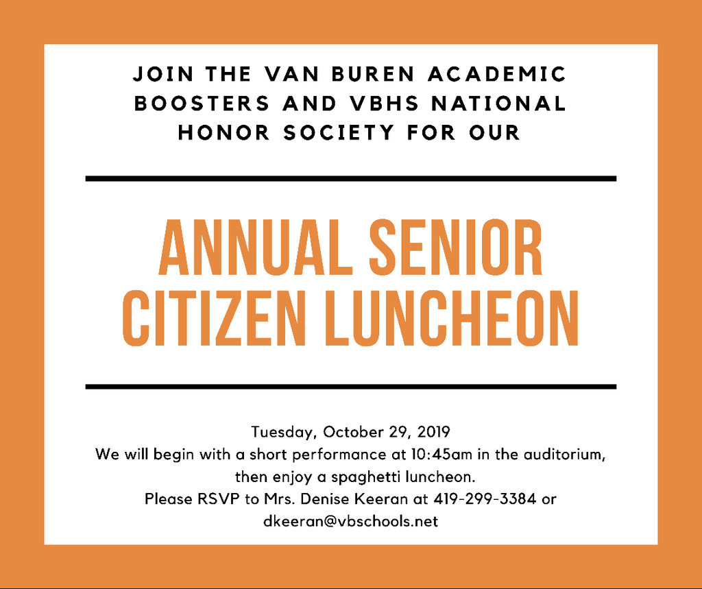 Annual Senior Citizen Luncheon Invite