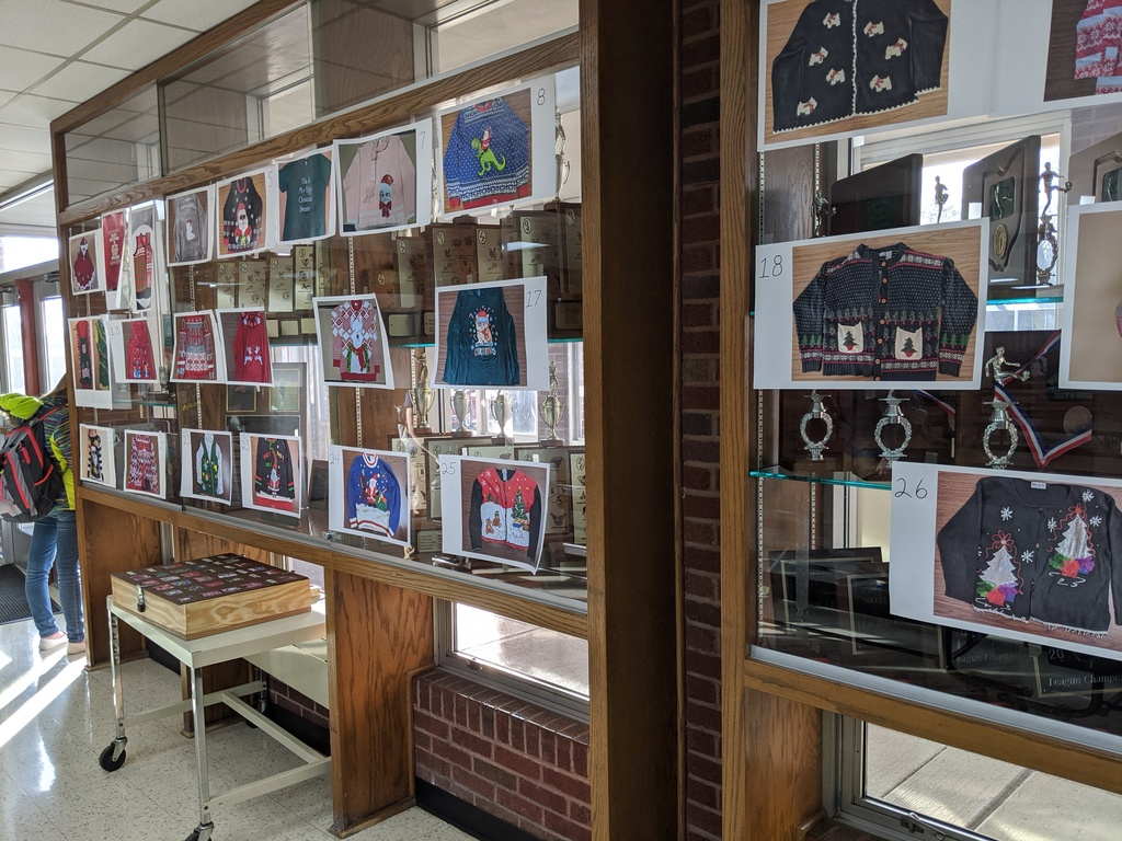 High school cafeteria photo display