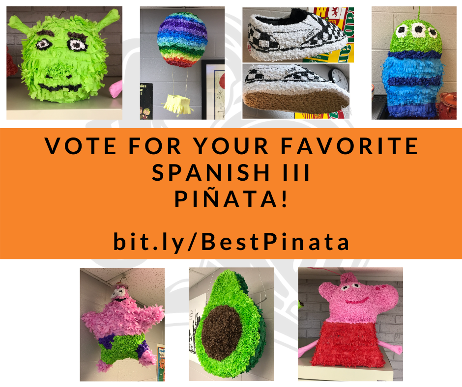 Pictures of each pinata and the bit.ly link