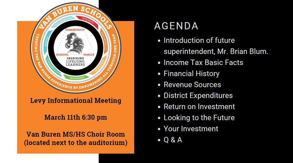 Levy Meeting Agenda