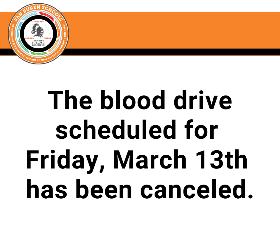 Blood drive canceled
