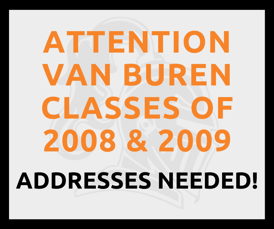 Classes of 2008 & 2009 Addresses Needed