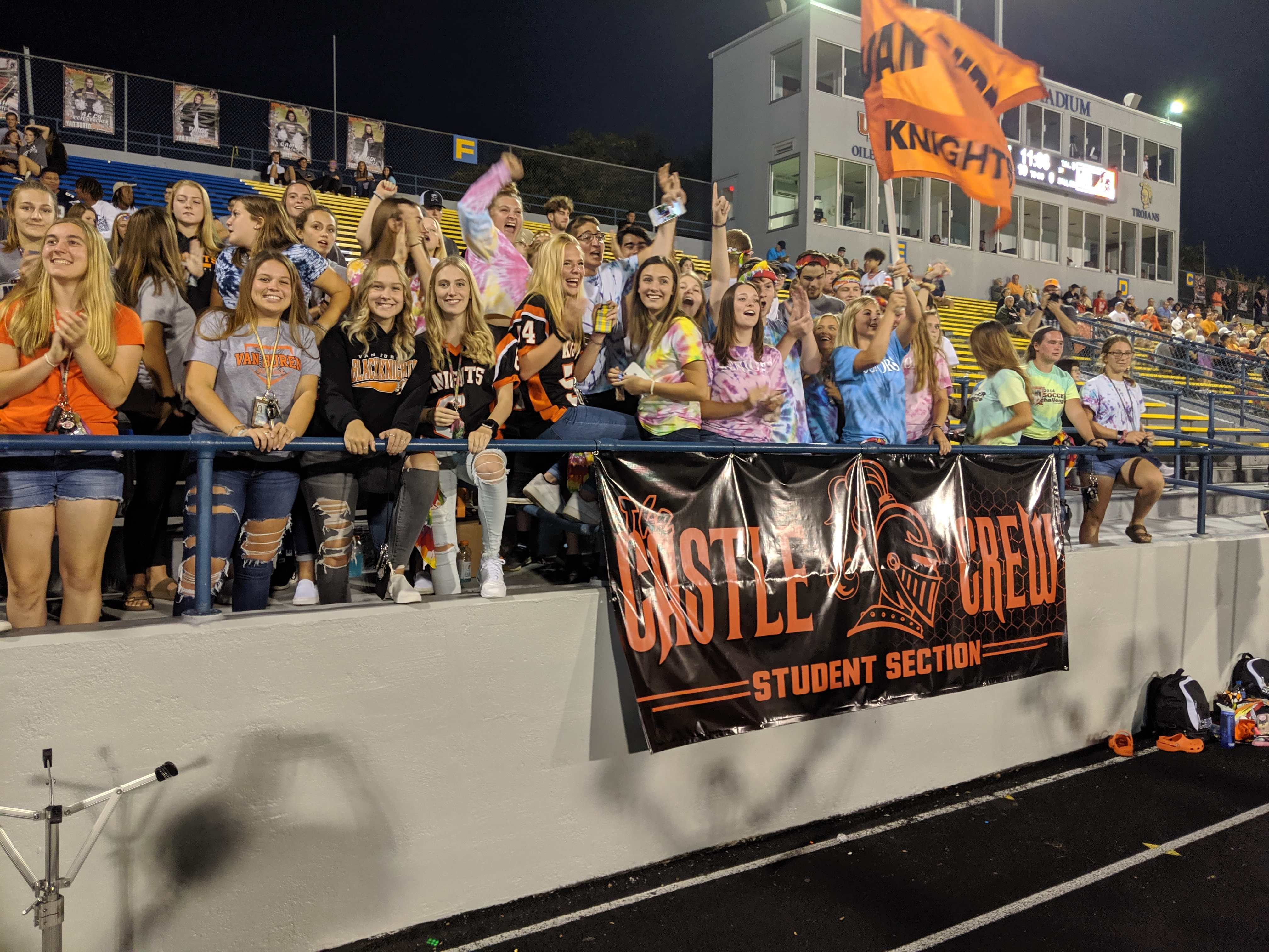 Student Section at Football Home Opener